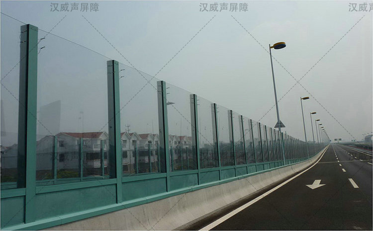 陕西宝鸡城市高架桥梁声屏护栏